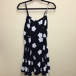 Cotton On - black floral tank dress SZ S